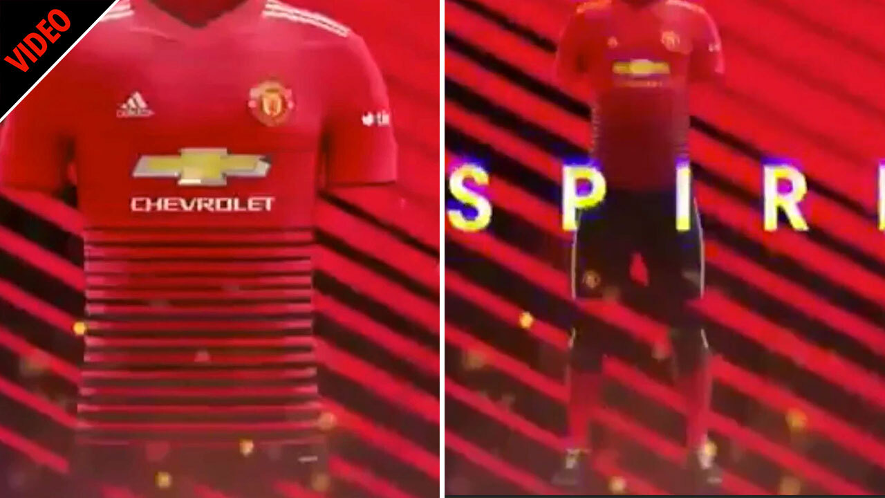 92395e77068 Manchester United kit for 2018 19 season  leaked  online in supposed Adidas  video – The Sun