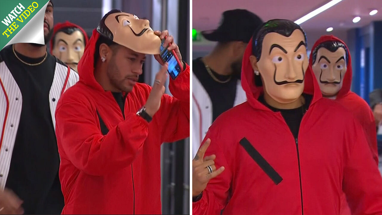Neymar and Kylian Mbappe wear masked costumes from Netflix series Money  Heist ahead of Champions League clash