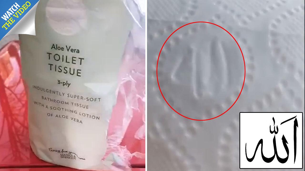 Muslims demand M&S boycott because toilet paper 'has Allah