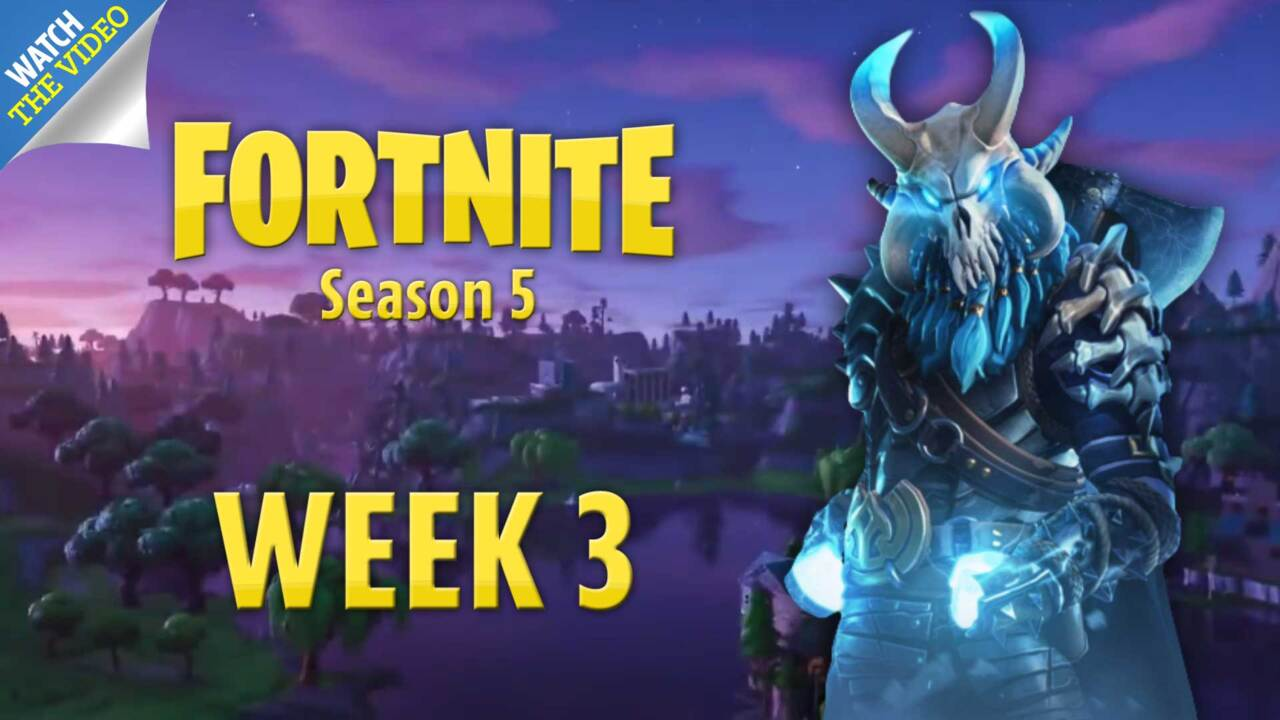 Where to jump through five flaming hoops for Fortnite Week 4