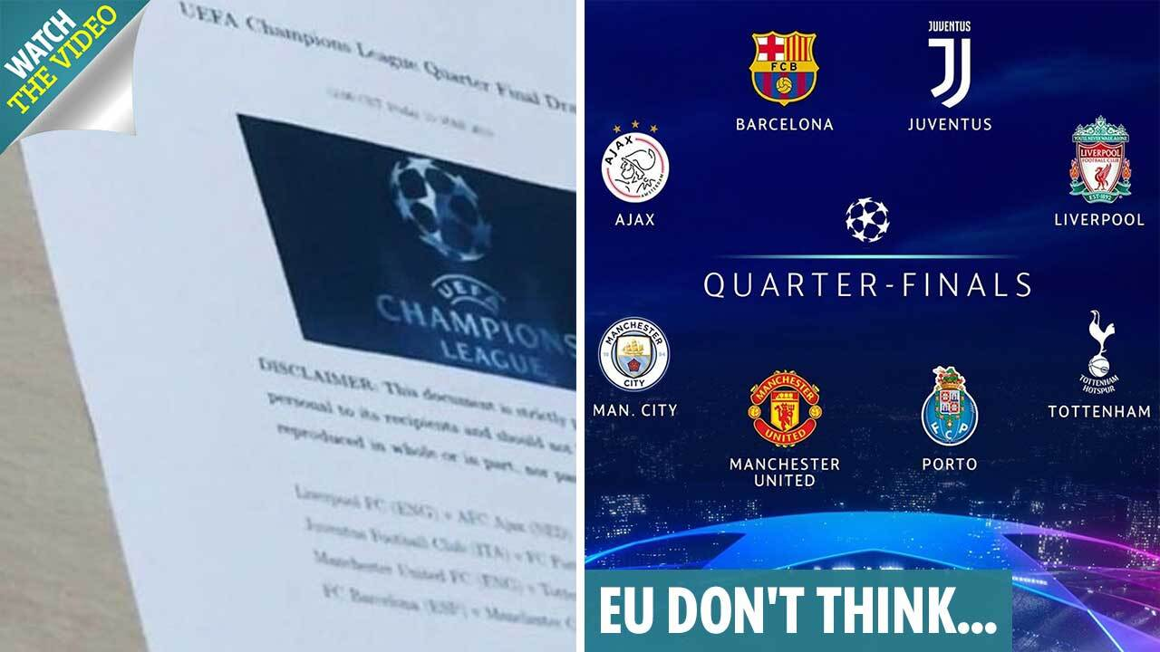 Champions League quarter-final draw is fixed fans claim