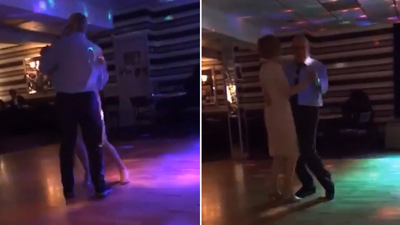 Watch the moment man dances to Bee Gees classic at reunion with firefighter  who thought he was DEAD after giving him CPR at car smash scene – The Sun