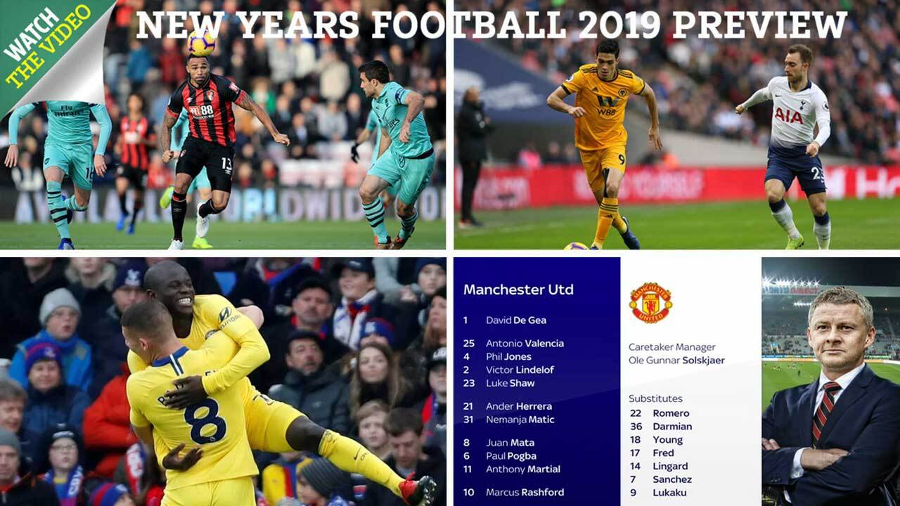 New Year's Day football fixtures on TV, Premier League and