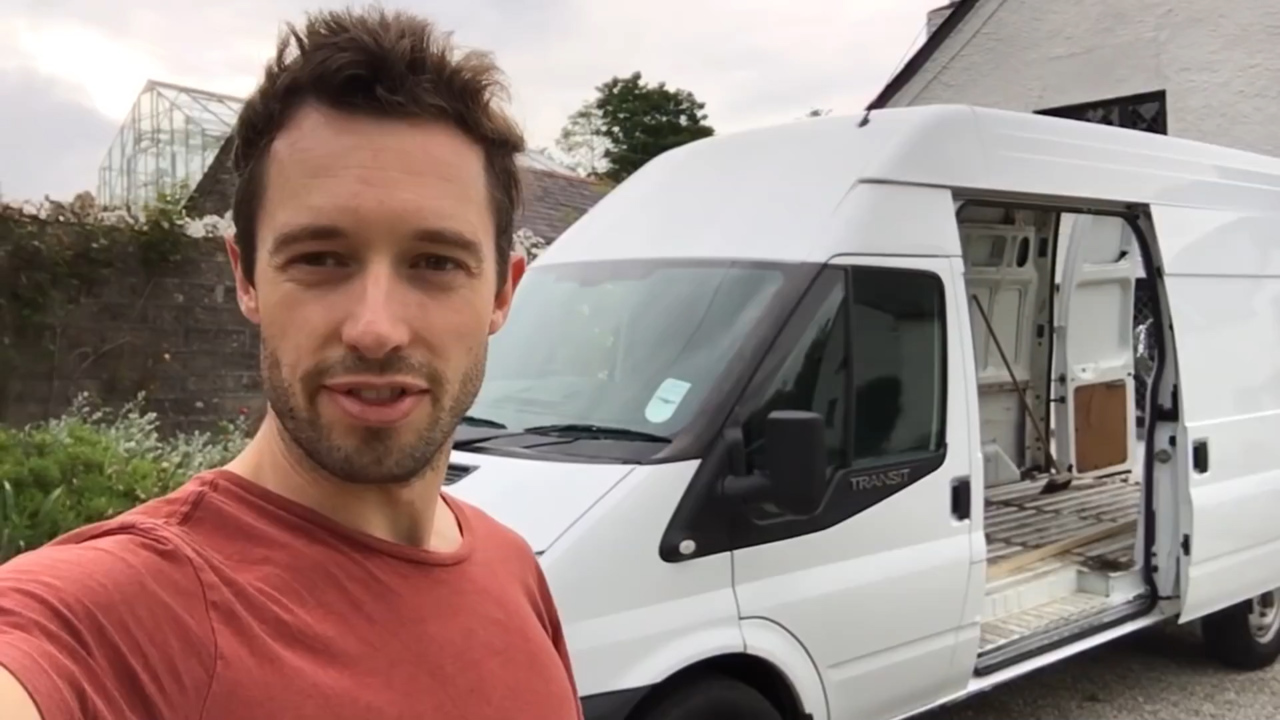 e4d52911e914e4 Meet the Brit white van man travelling the world in a Transit he converted  into a camper in just 17 days