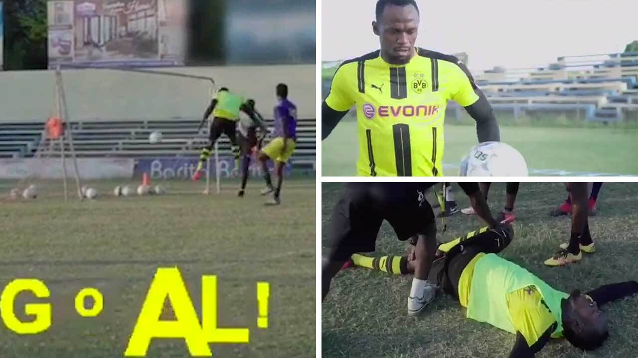 Usain Bolt joins Borussia Dortmund for first day of training as