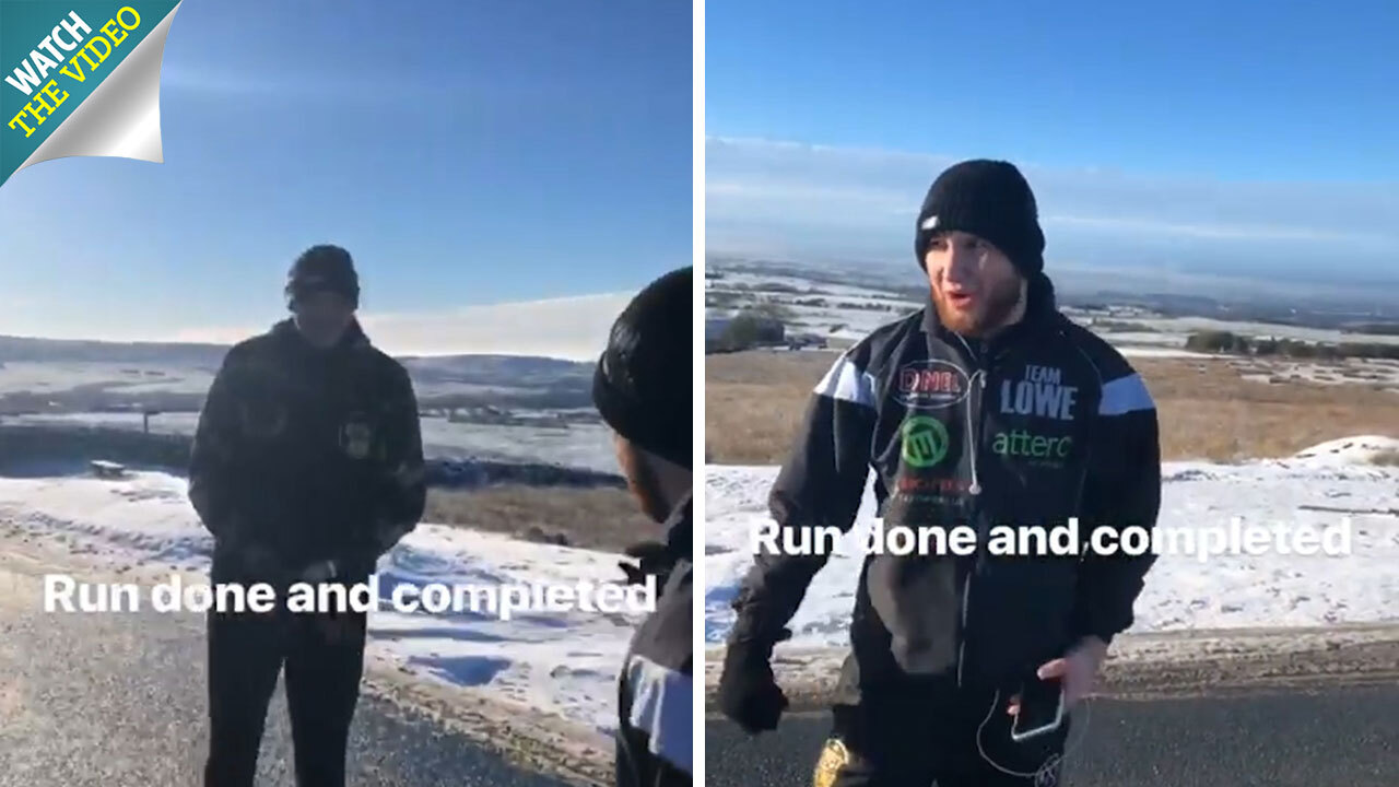 bfbcae4e65d Fury prepares for Wilder rematch with hill sprints in snow as Gypsy King  vows 'I'll fight him anywhere, even Antarctica'