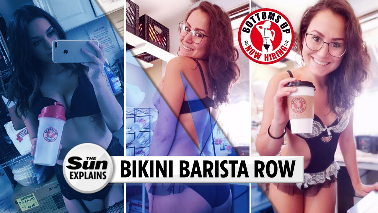 Outrage at coffee shop where bikini-clad baristas serve ...