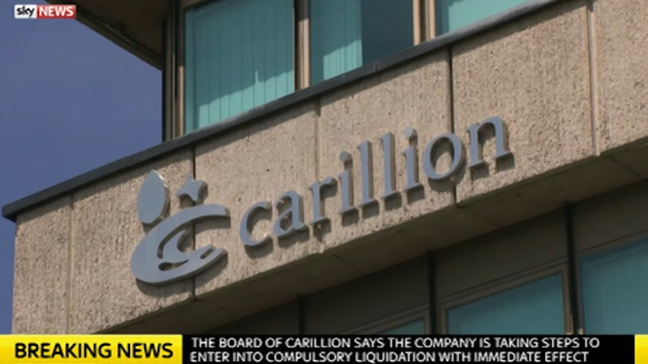 Carillion enters into liquidation putting thousands of jobs
