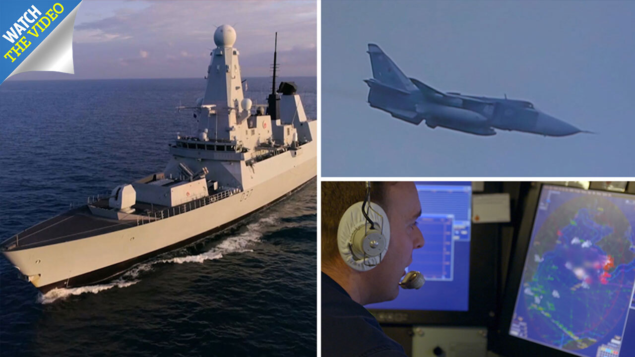 Where is HMS Duncan now, what happened with the Russian jets