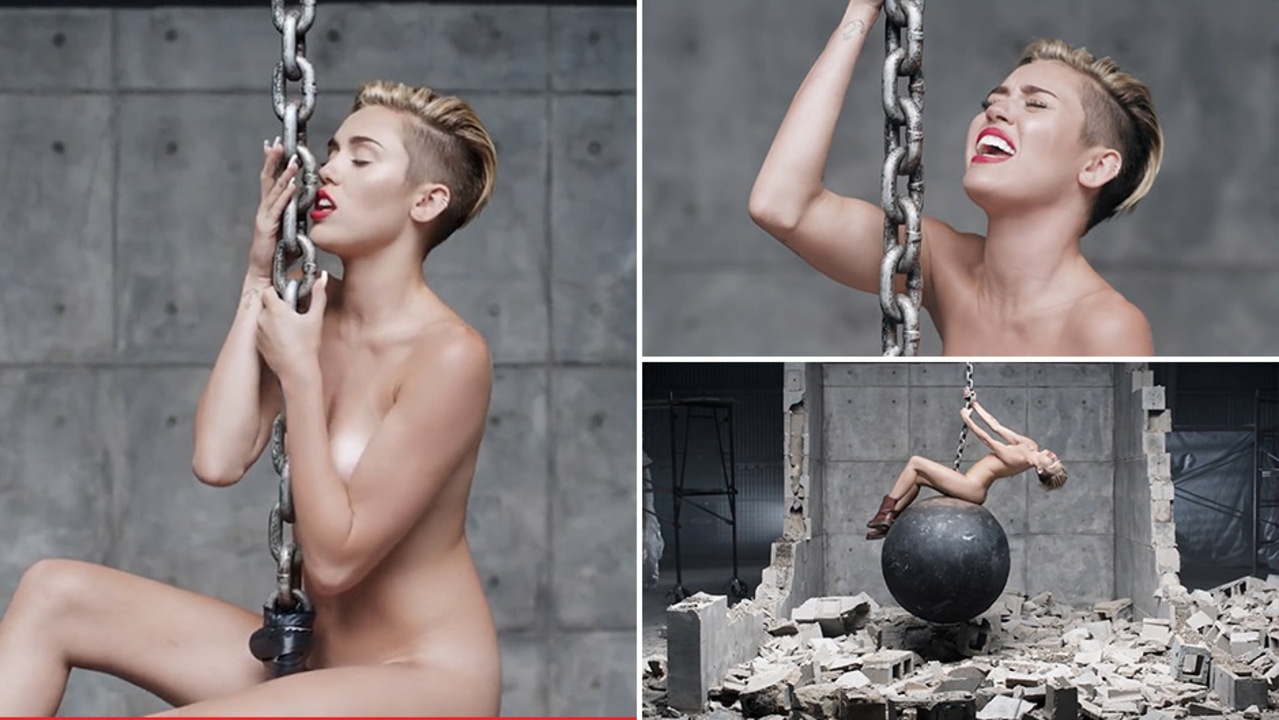 miley cyrus wrecking ball nackt