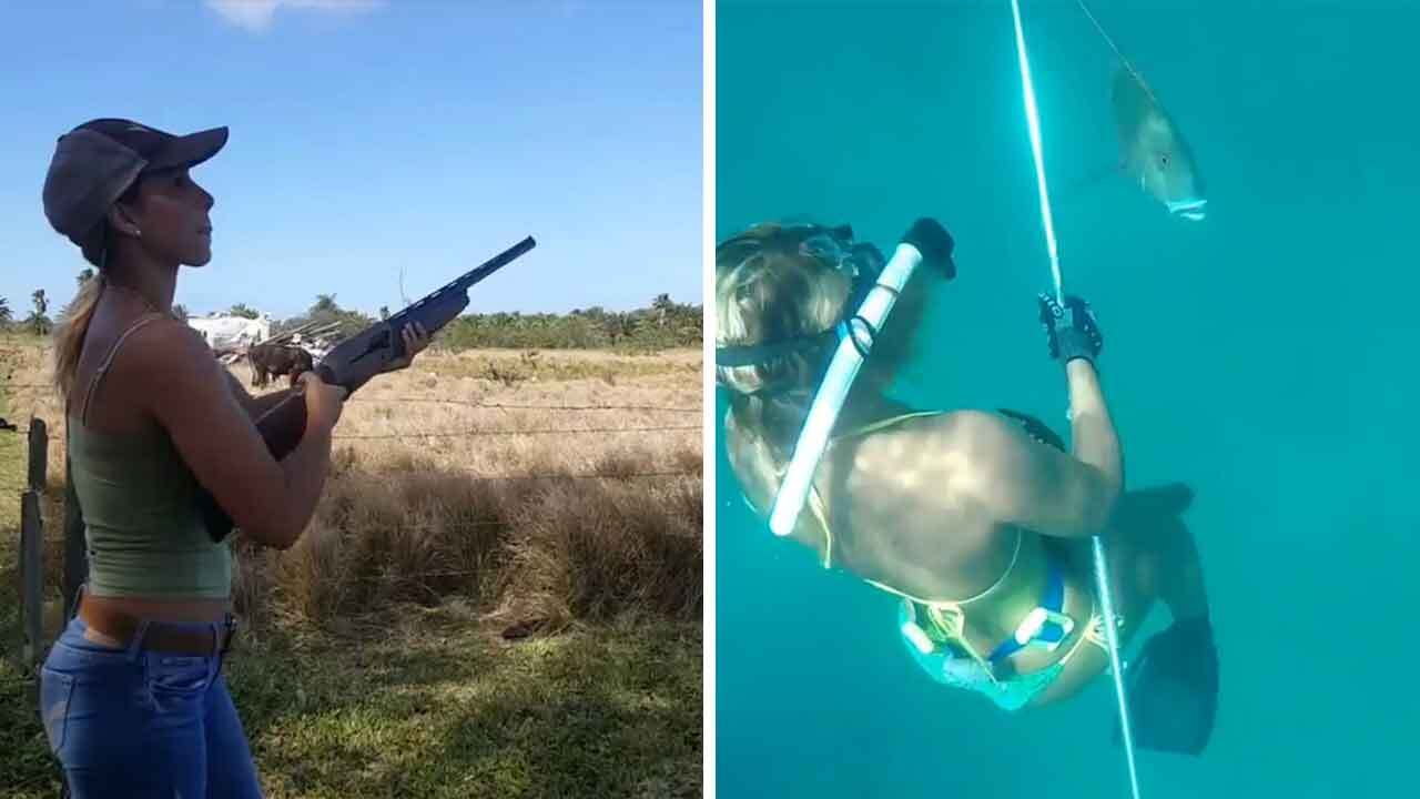 Meet the 'world's sexiest angler' who freedives up to 65ft