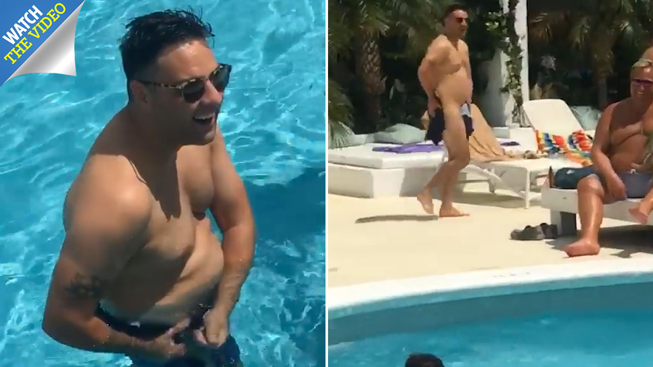 9f8305848a Hilarious moment bloke walks back to Ibiza hotel room naked after pals prank  him with dissolving swimming shorts