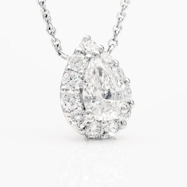 Icon Pear Shape Diamond Pendant