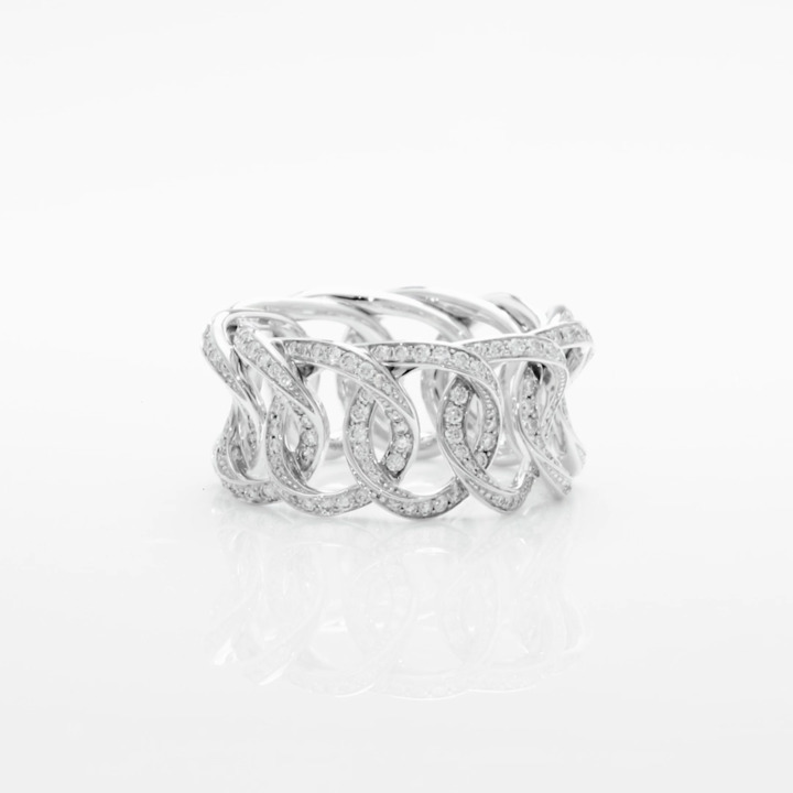 Inspired by Twombly Round Diamond Pavé Band
