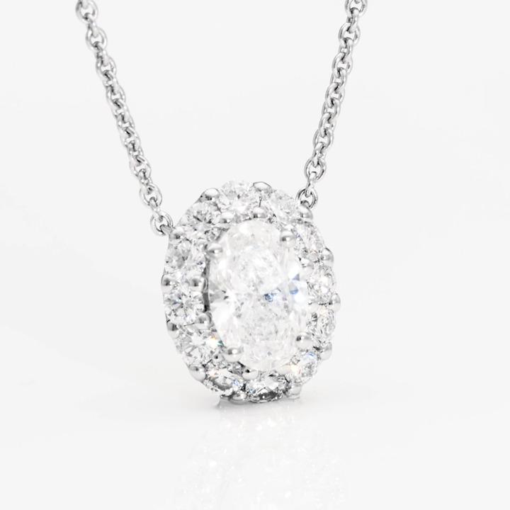Icon Oval Diamond Pendant