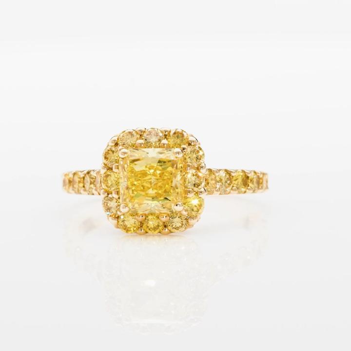 Icon Radiant Cut Yellow Diamond Engagement Ring