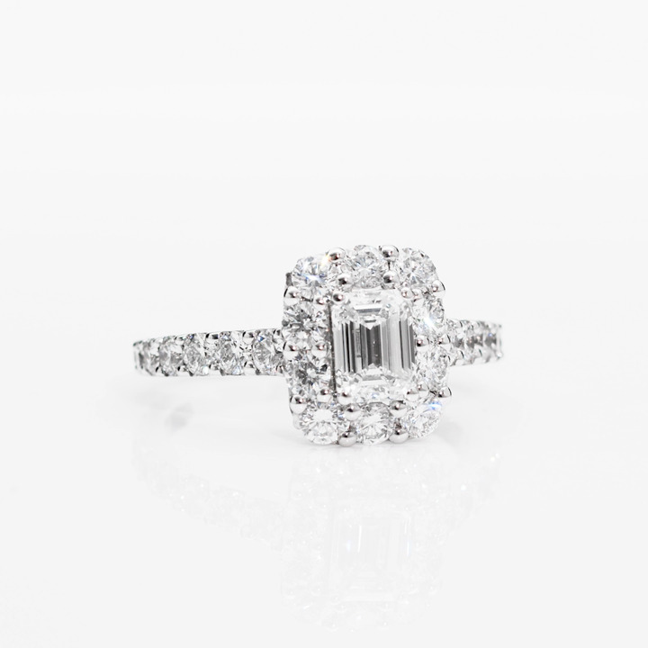 Icon Emerald Cut Diamond Engagement Ring