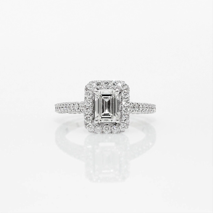 Constellation Emerald Cut Diamond Engagement Ring