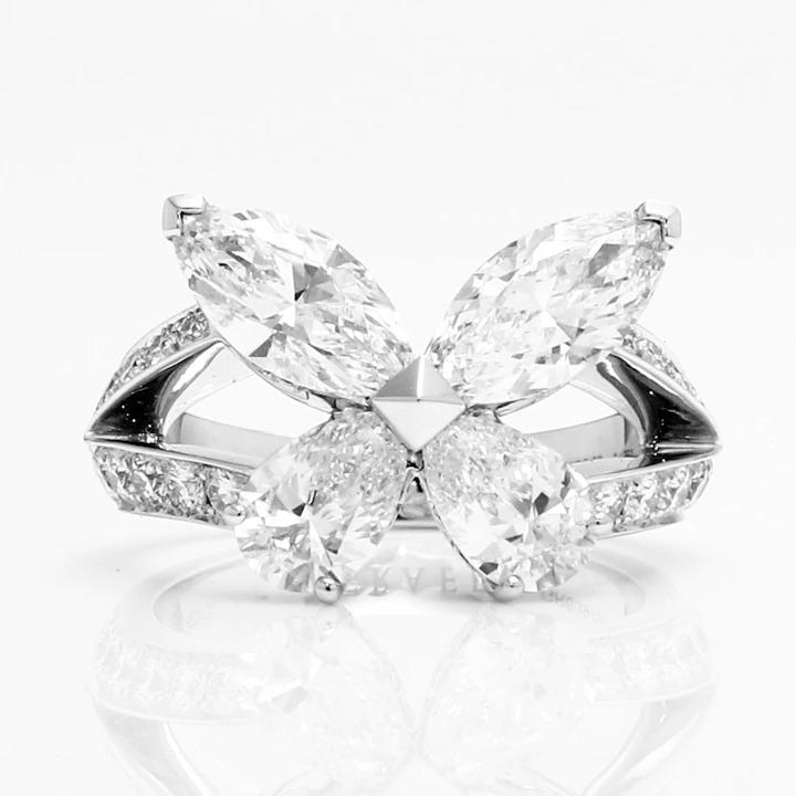 クラシック バタフライ ダイヤモンド リング