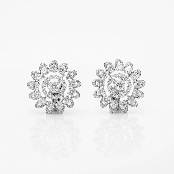 Graff Gateway Pavé Diamond Stud Earrings