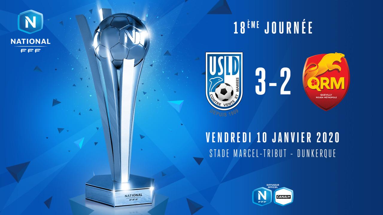 J18 | USL Dunkerque – Quevilly Rouen Metropole (3-2)
