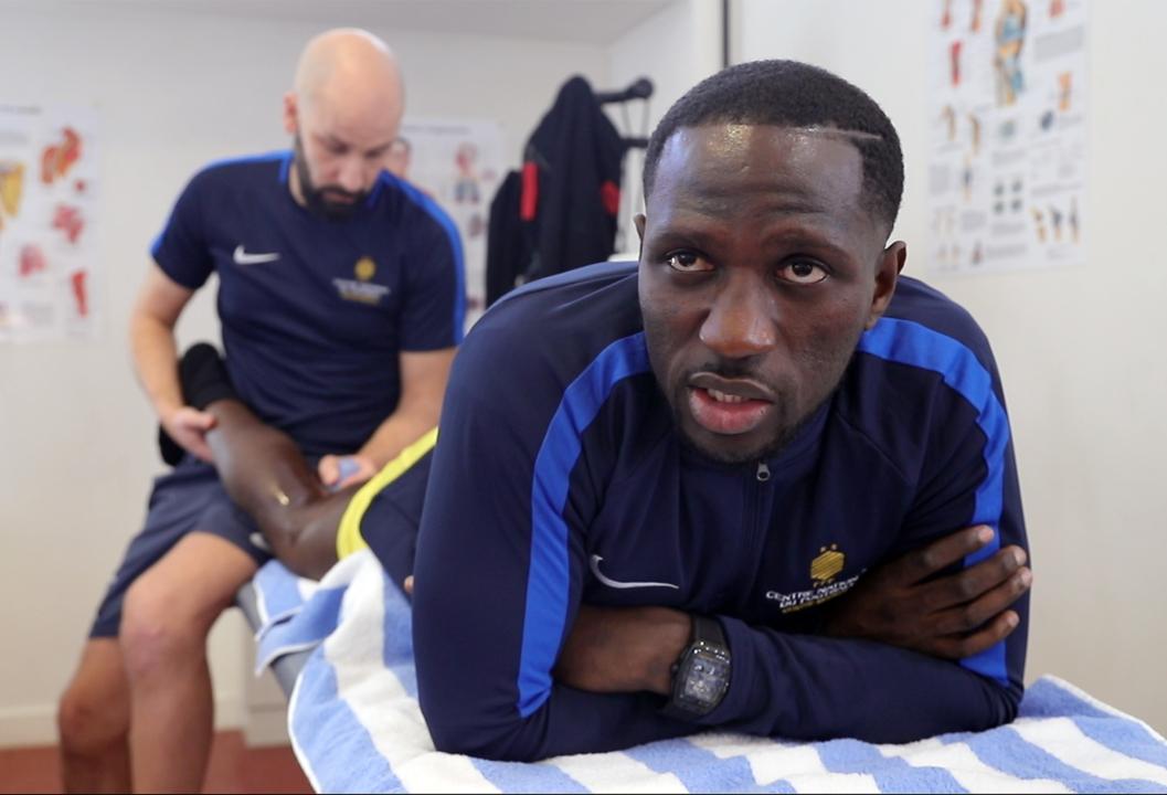 En soins avec Moussa Sissoko à Clairefontaine