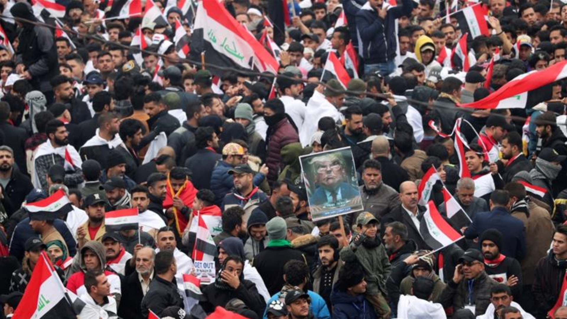 Thousands of Iraqis rally to demand withdrawal of US troops