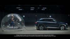 Así respira Mireia Belmonte conectada al tubo de escape de un Hyundai Nexo