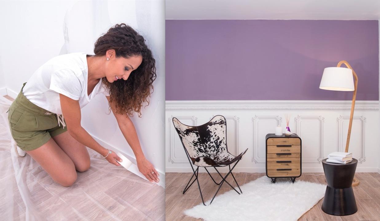 Astuce Pour Décoller Du Papier Peint emmanuelle rivassoux remet à neuf un mur abimé avec de la peinture et du  papier-peint