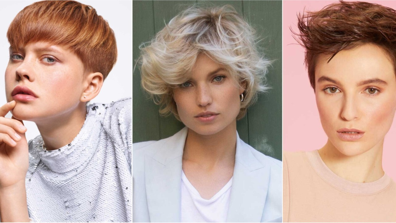 Couleur de cheveux blond sur cheveux court