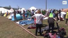 Los primeros acampados toman Kobetas