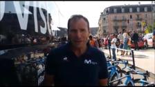 Tomás Amezaga cuida las bicicletas del Movistar