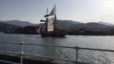 El barco-escuela Atyla llega a Bilbao
