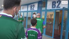 Mucha ilusión y ganas de baloncesto de los 225 aficionados que ha podido entrar al Carpena