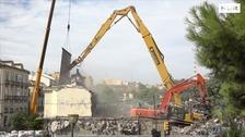 El cine Astoria desaparece del Centro, vídeo de la demolición