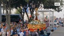 La Virgen de las Cruces se despide entre vivas y aplausos