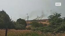 Incendio en La Montaña de Cáceres