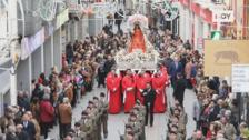 La procesión de la Mártir Santa Eulalia pone fin a cinco días de fiesta