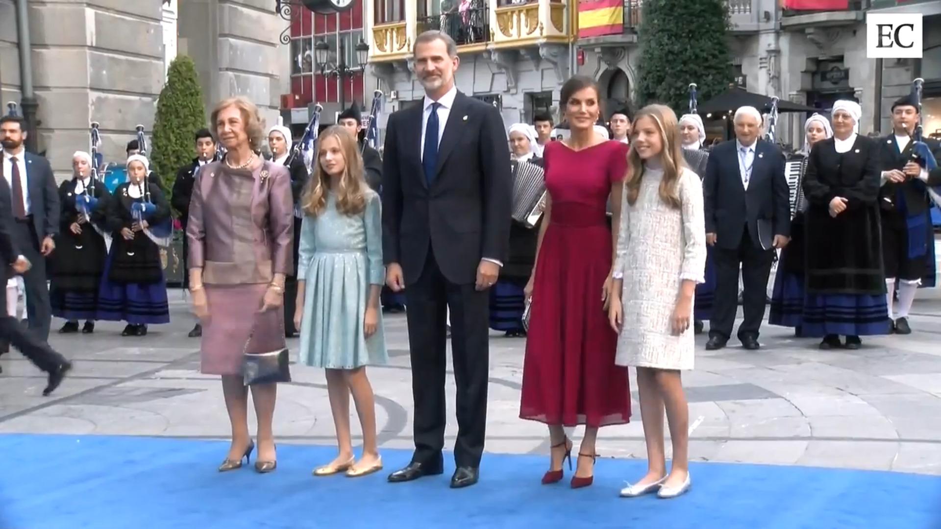 La Princesa de Asturias se estrena como protagonista de la alfombra azul