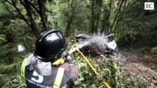 Fallece un camionero de Tapia tras despeñarse 25 metros y arder su vehículo en Villayón