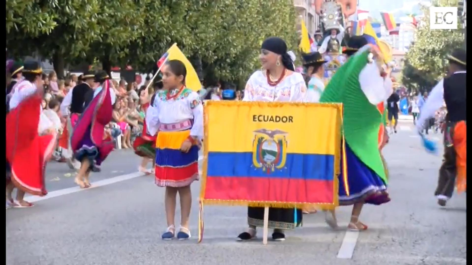El desfile del día de América más sidrero