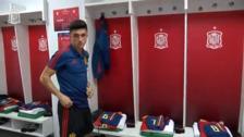 Así vivió el jugador del Sporting, Manu García, su debut con la selección española sub-21