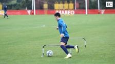 Alta intensidad en los entrenamientos del Sporting