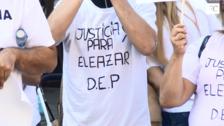 Suelta de globos en Gijón para pedir justicia por Eleazar