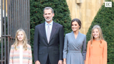 La Familia Real a su llegada a Oviedo