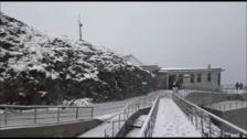La nieve llega a Fuente Dé