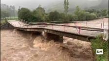 Inundaciones en dos viviendas de Sopeña por desbordamiento del Saja tras las fuertes lluvias