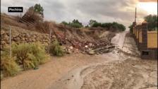 Gota fría: un muro se desploma en Pechina