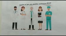Homenaje a los profesionales sanitarios, desde Aldeanueva de Ebro