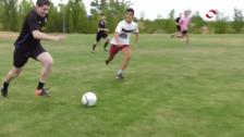 Fútbol y degustación de perritos calientes en Sojuela